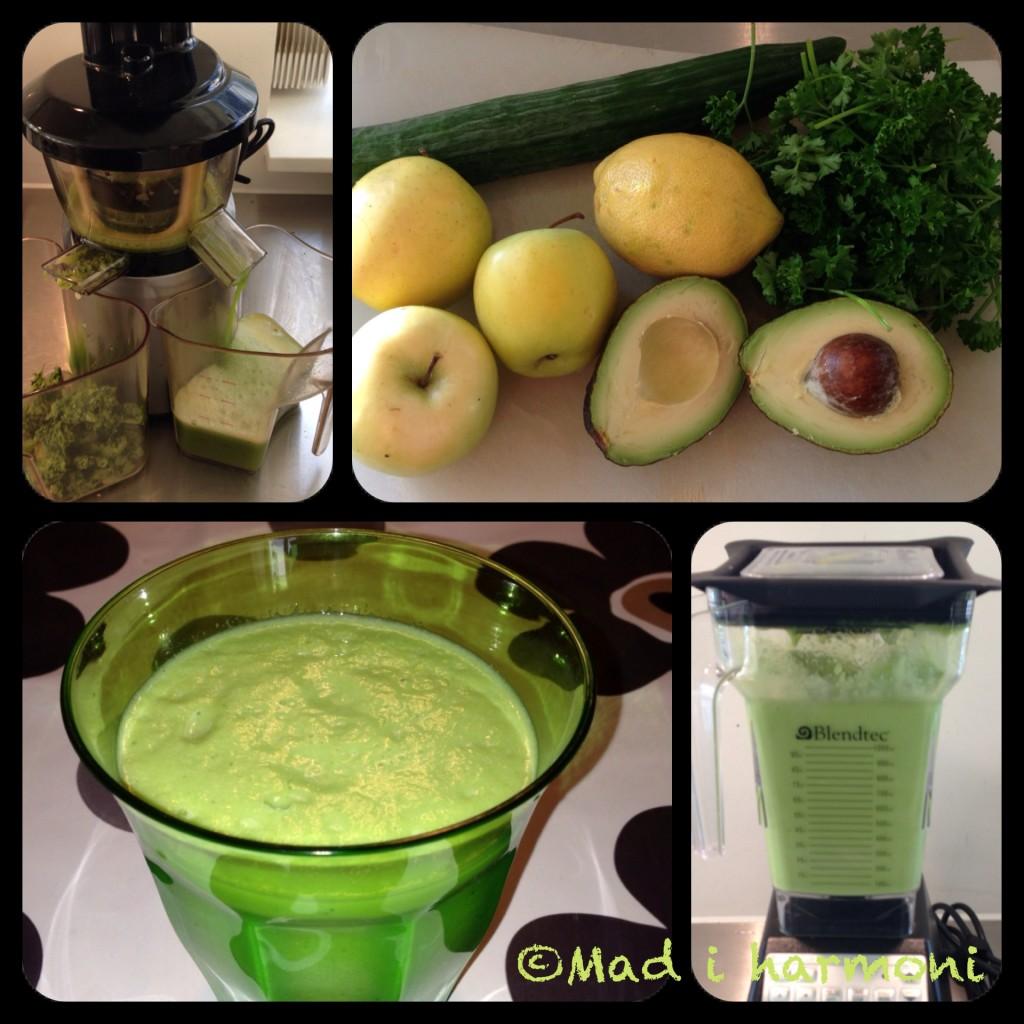 Grøn morgenjuice