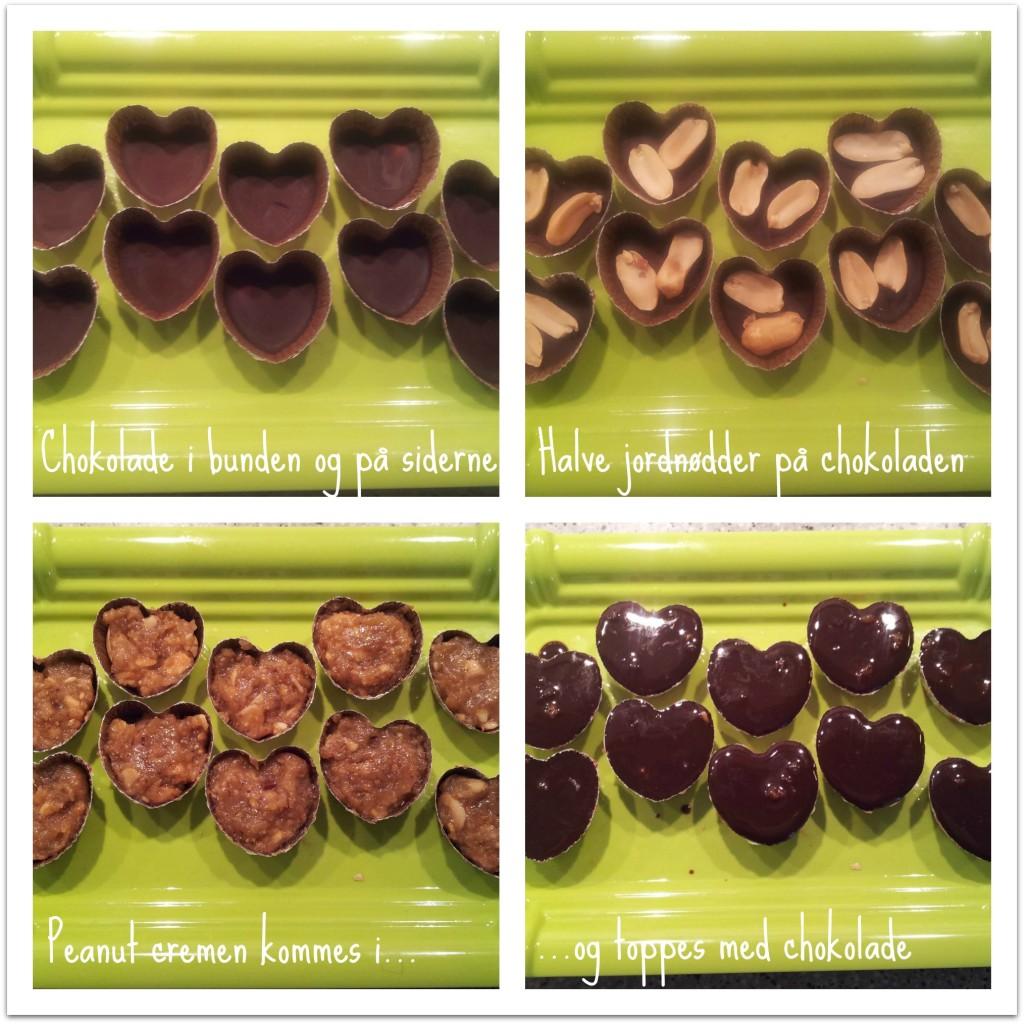 Sådan laves snickers hjerter